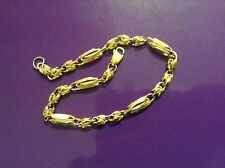 "Turkish Link 18k Yellow Gold 7.0"" Bracelet 7.7 Grams"