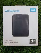 WD Western Digital Elements 4TB Portable External Hard Drive USB 3.0 New