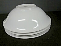 Mid Century German white china LOT 4 fruit Salad soup bowls Hutschenreuther 9""