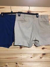Men's Knights Bridge Menswear Shorts Size 38 Lot 2 Khaki And Blue