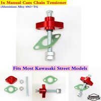 Motorcycle Manual Cam Chain Tensioner Adjuster For Kawasaki Zx 1100 Zl 600 Red