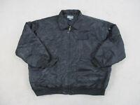 VINTAGE Raw Blue Jacket Adult 5XL XXXXXL Black Outdoors Coat Mens 90s