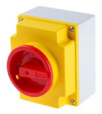 ABB NON FUSED SWITCH DISCONNECTOR 3-Poles 40A 15kW 3-Phase RED/YELLOW