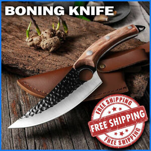 Forging Kitchen Chef Knife Set Cleaver Damascus Style Stainless Steel Butcher
