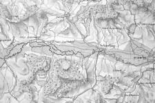 1859 ORIGINAL MAP - Germany Bavaria Environs of Eckmuhl or Eggmuhl