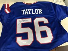 Lawrence Taylor Signed Auto Giants  Jersey w/Inscription JSA Witness