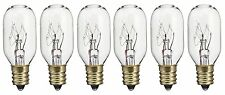 Pack of 6 15T7 15W Incandescent Salt Lamp & Appliance T7 Bulb with Candelabra