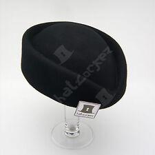 VINTAGE Wool Felt Women Pillbox Hat   Black Red Blue Pink Brown Camel Burgundy