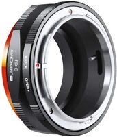 K&F Concept Canon FD Lens to E Mount Matting Varnish Design Lens Mount Adapter