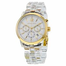 Michael Kors Women's MK6200 Audrina White Dial Clear Acetate Bracelet Watch
