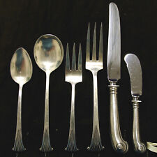 "Onslow by Tuttle Silverware Flatware - 6 Pc Service for 12 Matched ""DE I"" 84 Pcs"