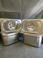 More details for bain marie inserts / pots. used. various sizes. some with lids
