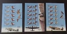 Gibraltar 2000 Wings Of Prey SG943/8 Hojas de Sellos estampillada sin montar o nunca montada um aves avión Spitfire