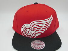 Detroit Red Wings Red  Mitchell & Ness NHL Throwback Retro Snapback Hat Cap
