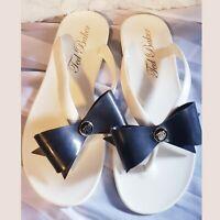 Ted Baker Women's Suszie White Jelly Flip Flops Sandals Shoes