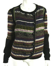 ETRO Multi-Color Mixed Pattern Wool Knit Double-Breasted Sweater 48