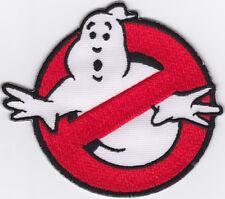 Aufnäher iron-on patch Bügelbild Ghostbuster Logo No Ghost Kult Groovy -a3y4