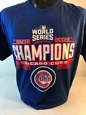 Chicago Cubs Short Sleeve T shirt 2016 World Series Champions sz. L blue