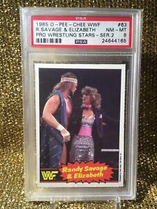 RANDY MACHO MAN SAVAGE MISS ELIZABETH 1985 O-Pee-Chee WWF Series 2 #63 PSA 8 RC