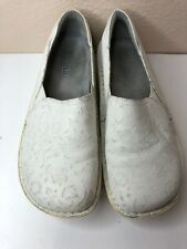 ALEGRIA White Comfort DEB-600 Leather Professional Nursing Shoes size 40 US 9