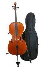 "Bucur Ioan 4/4 ""Advanced"" Cello Violoncello mit Bogen, Hülle und Kolophonium"