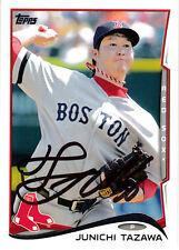 Junichi Tazawa Boston Red Sox Japanese Pitcher Topps card SIGNED AUTOGRAPHED
