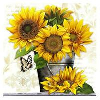 5D DIY Full Drill Square Diamond Painting Sunflower Cross Stitch Embroidery