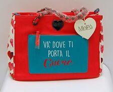LE PANDORINE MINIPA BORSA SHOPPING + TRACOLLA  FANTASIA SIMIL PELLE idea regalo