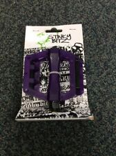 "Stinky Bitz BMX plastic flat Bicycle Pedals 1/2"" Purple fits one piece cranks"