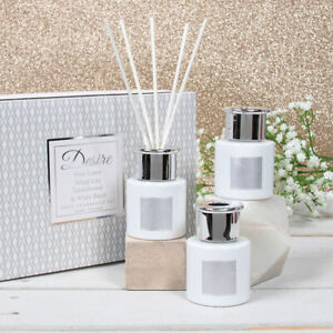 Desire 3 Reed Diffuser Set Home Fragrance Pure Linen White Lily Sandalwood Birch