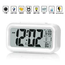 "ZHPUAT 5.3"" Digital Smart Alarm Clock - HD LCD Display - Time/Date/Temperature"