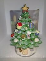 Ceramic Lighted Christmas Tree Tealight Candle Holder 8 In Votive Hand Painted