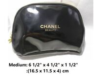 NIP Chanel Medium Snowflake Beauty Cosmetic Makeup Pouch Case Bag ShipTrack