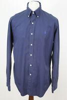RALPH LAUREN Polo Navy Long Sleeve Shirt size L