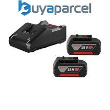 2 x Bosch 18v 4Ah Li-Ion CoolPack las baterías de Ion de Litio + cargador rápido GAL18V40