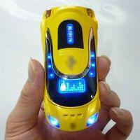 yellow W8 Sports cool car model Unlocked cell phone Quad Band Dual SIM card MP3