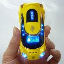 yellow W8 Sports cool car model Unlocked cell phone Quad Band Dual SIM card MP3