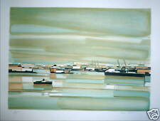 BEZ Michel Lithographie signée numérotée paysage marin la mer la bretagne