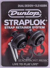 JIM DUNLOP STRAPLOCK DUAL DESIGN STRAP LOCK. Black J103B - NEW