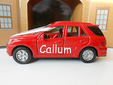 WEDDING DAY GIFT CAR PERSONALISED NAME PAGEBOY / GROOM / BRIDESMAID TOY CAR NEW!