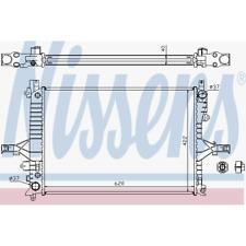Kühler Motorkühlung - Nissens 65553A