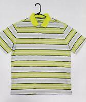 Nike Golf Dri Fit Men's XL Striped Polo Shirt