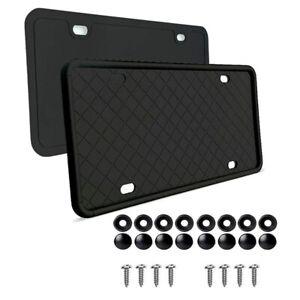 2Pcs Rubber License Plate Holder Mounting Screws Bumper Bracket Frame Car Suv
