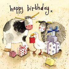 Alex Clark 'Farmyard Presents' Animal Birthday Card - FREE UK POSTAGE!