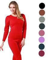 9M Women's Ultra-Soft Fleece Lined Thermal Base Layer Top & Bottom Underwear Set