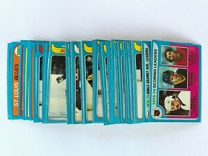 Lot of 61 1979-80 Topps Hockey Cards - Excellent Condition including Stars