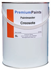 Paintmaster Heavy Duty Creosote Paint - 5 Litres - Dark Brown - Timber Treatment