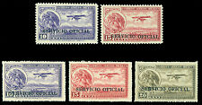 MEXICO 1932 AIRMAIL OFFICIALS - Eagle & Plane ovpt set Sc# CO20-CO24 mint MLH