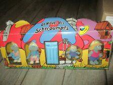 Village des Schtroumpfs-En velours- Bikin- Vinyle floqué-Articulées-1988-Rares