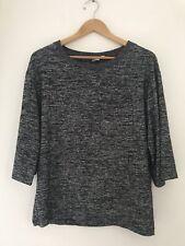 Ladies Jumper Size 10 Grey Long Sleeve Casual  <JJ10644